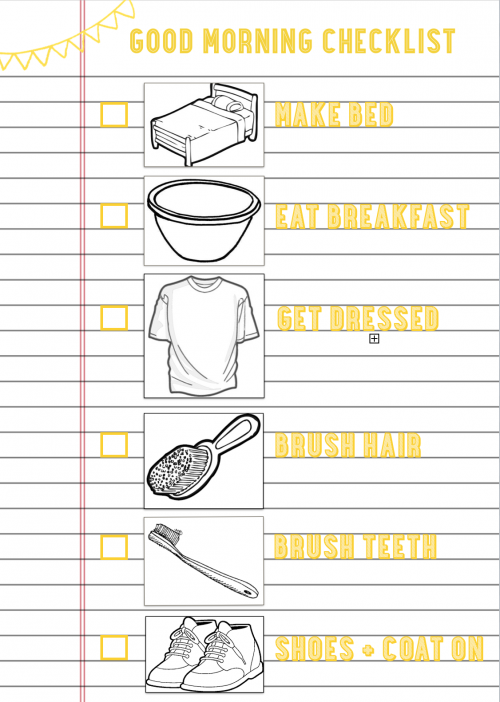good morning checklist