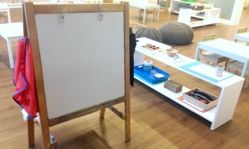 Montessori art area