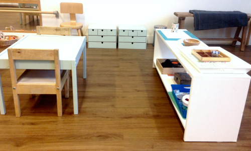 Montessori art area 2