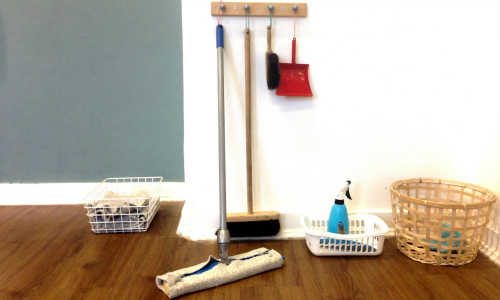 Montessori cleaning area