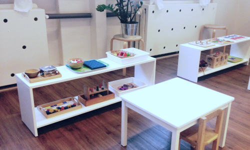 Montessori manipulatives area