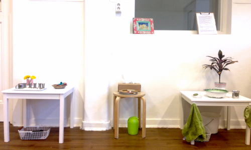 Montessori practical life area