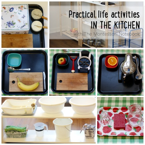 Practical life activities in the kitchen www themontessorinotebook com. Montessori activities at home with toddlers and preschoolers   The