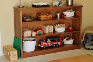 Montessori shelves toddler