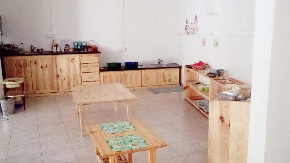 Montessori kitchen Montessori classroom Gambia