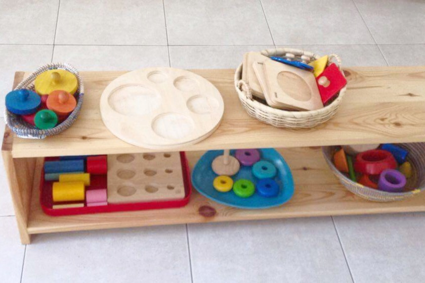 toddler shelf Montessori classroom Gambia