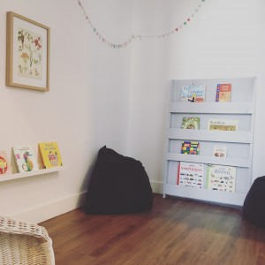 Where to find series: front facing bookshelves