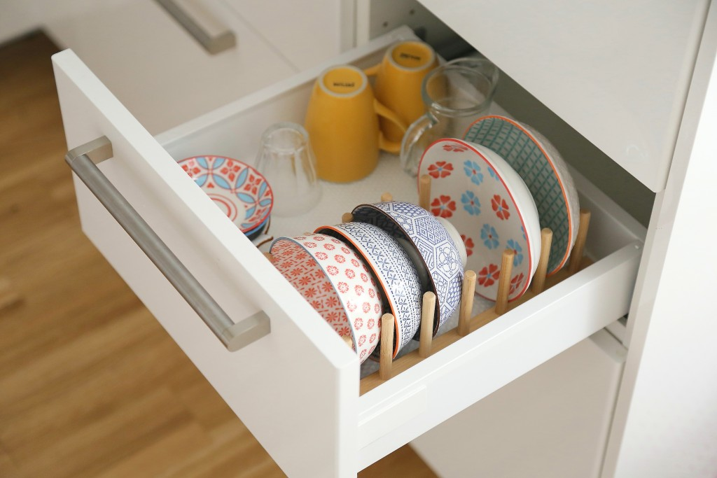 Montessori kitchen drawers