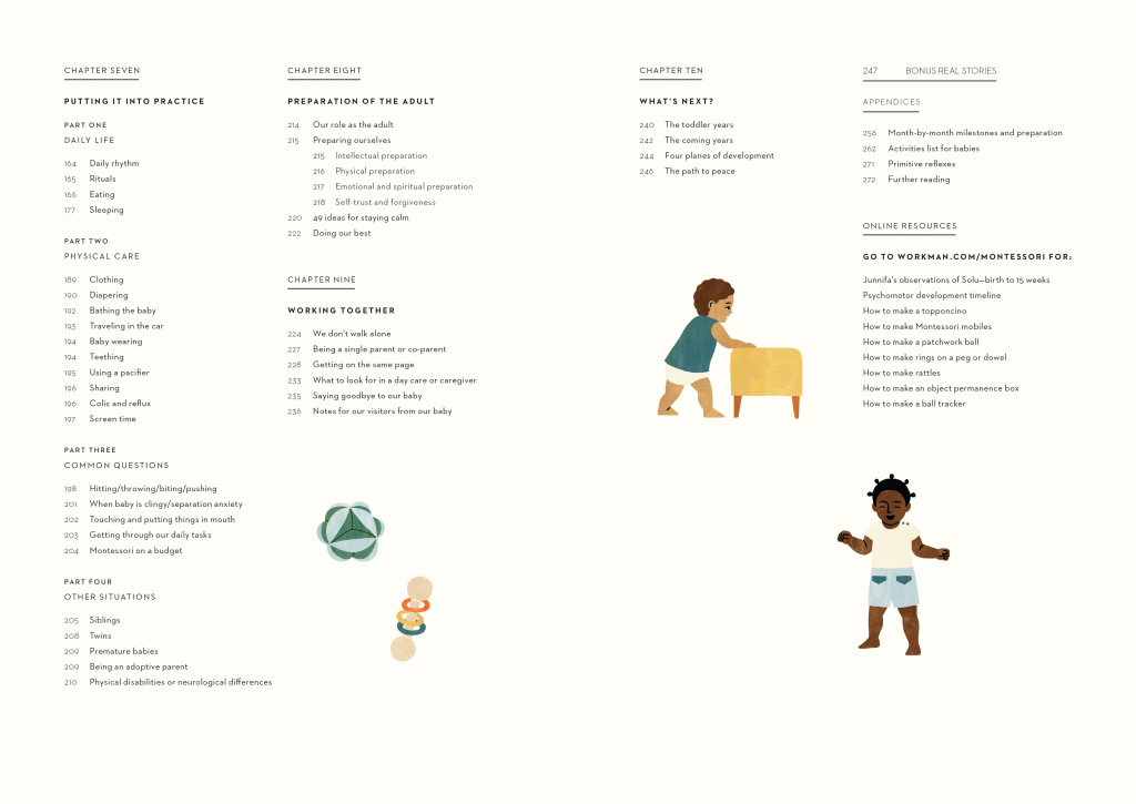 The Montessori Baby table of contents 2