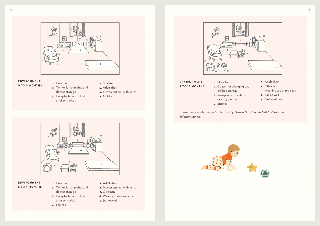 Setting up a Montessori home for a baby
