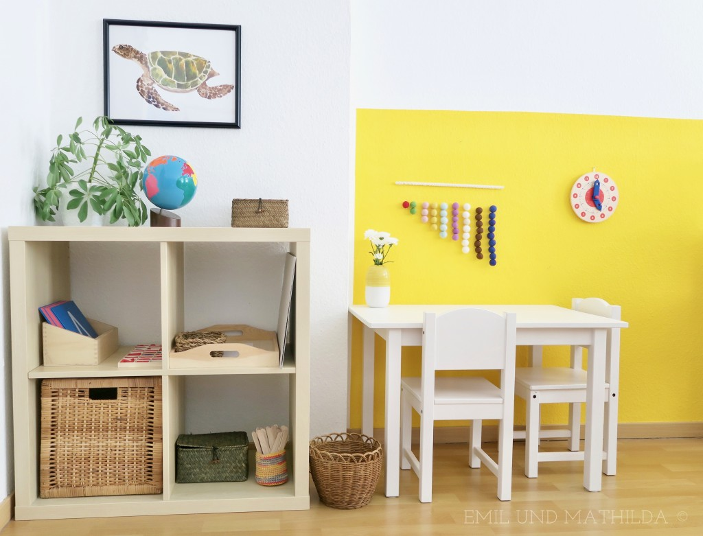 Montessori work area