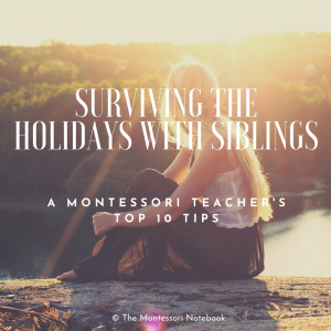 Surviving the holidays with siblings – a Montessori teacher's top 10 tips