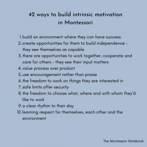 Beyond rewards, bribes and punishment – a Montessori approach to building intrinsic motivation