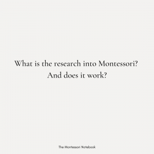 What is the research into Montessori? And does Montessori work?