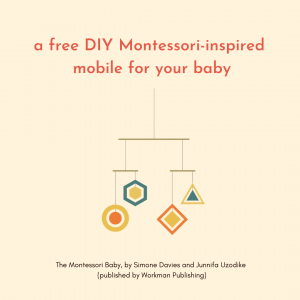 A free DIY Montessori-inspired mobile for your baby!
